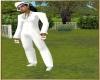 STEM white pants  suit