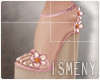 [Is] Wedges Sandals Pink