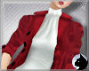 !Velvet Coat Red - white