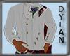 !!D White PC Tux Jacket