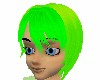 Neon green hairstyl