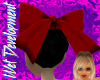 Dark Red Hair Bow