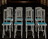blue wedding chairs