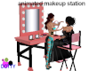 candy pink makeup table