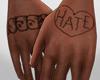 Tattoo Hand Hate