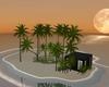 Private sunset island
