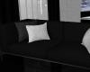 Dark Grey & White Couch