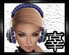 Blue & Silver Headphones