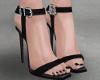 High heels, silver.
