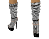 Checkered Moire Boots