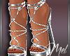 Mel-Diamond Silver Heels