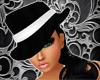 Black/White Mafia Fedora