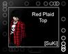 [SuKi]Plad Tee-red-