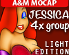 JESSICA RABBIT Light: 4x