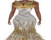 Evita White/Gold Gown