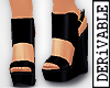 ! Lena Wedge Sandals
