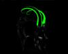 Toxic Green Black Horns
