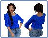 Blue Sexy Sweater
