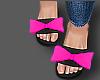 Pink Bow Slides