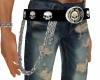 HD Willie G Skull Belt