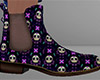 Sugar Skull Ankle Boots