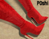 P0Shi* Typical Boots Red
