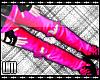 L Toxic Pink Ripped Jean