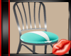 ! 50'S RETRO CHAIR TEAL