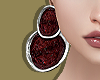 Oxblood Disc Earrings