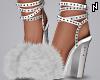 N. Fur Heels White