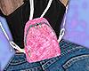 baby fluffy pink bpack