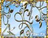 """LK"""" Golden SWIRL Frame"""