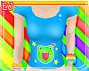 *Ej* Cute Frog Shirt *