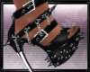 Blk/Silv Spiked Heels