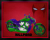Purple Green Motorcycle