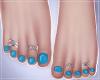 -S- BabyBlue Feet Silver