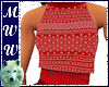Red Xmas Halter Sweater