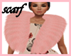 GA7**PinkWinterFurScarf