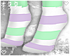 ☯Purple/Mint-Socks☯