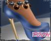 Azul And Cream Heels