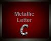 Silver Metallic Letter C