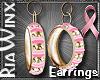 BCA Gold & Pink Hoops