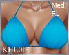 K blue bikini top RL