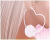 <3 Fluffy Hoops White
