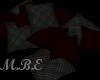 blk/red floor pillows