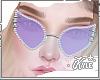 Purple Studded Glasses|F
