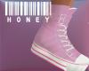 Pink sneakers