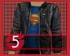Superman tee with jacket