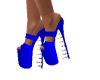 royal blue spike shoes