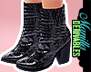 ! Snake Pattern Boots